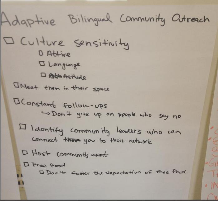 Adaptive Bilingual Community Outreach Checklist
